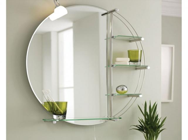 Miroir de salle de bain avec eclairage et tablette salle - Miroir salle de bain eclairant ...